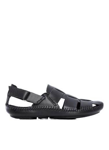 Kemal Tanca Kemal Tanca Erkek Derı Sandalet Sandalet Siyah